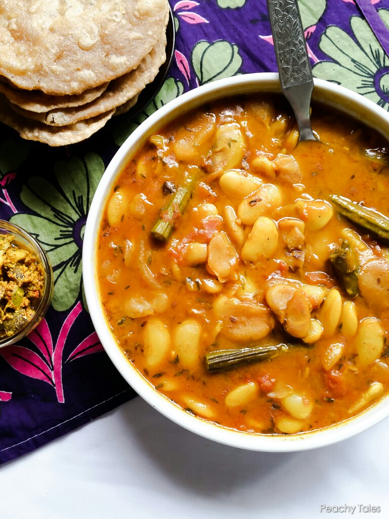 Creamy Rich Mauritian Butter Beans Curry With Drumsticks